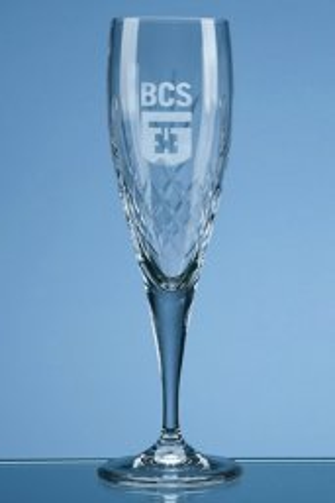 Mayfair lead crystal diamond cut champagne flute