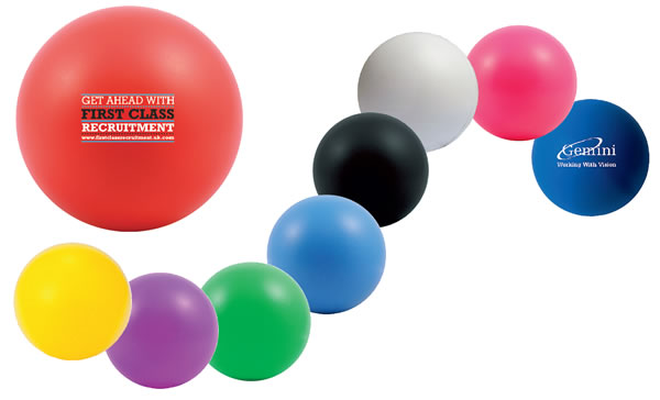 70mm Diameter Stress Ball. Available in a variety of colours from stock