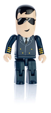 Branded Flash Drive USB People Pilot