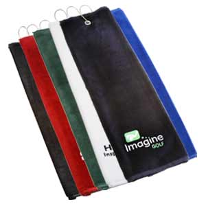 oxford trifold embroidered velour golf towel