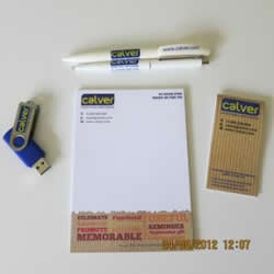promotional stationery and flash drive